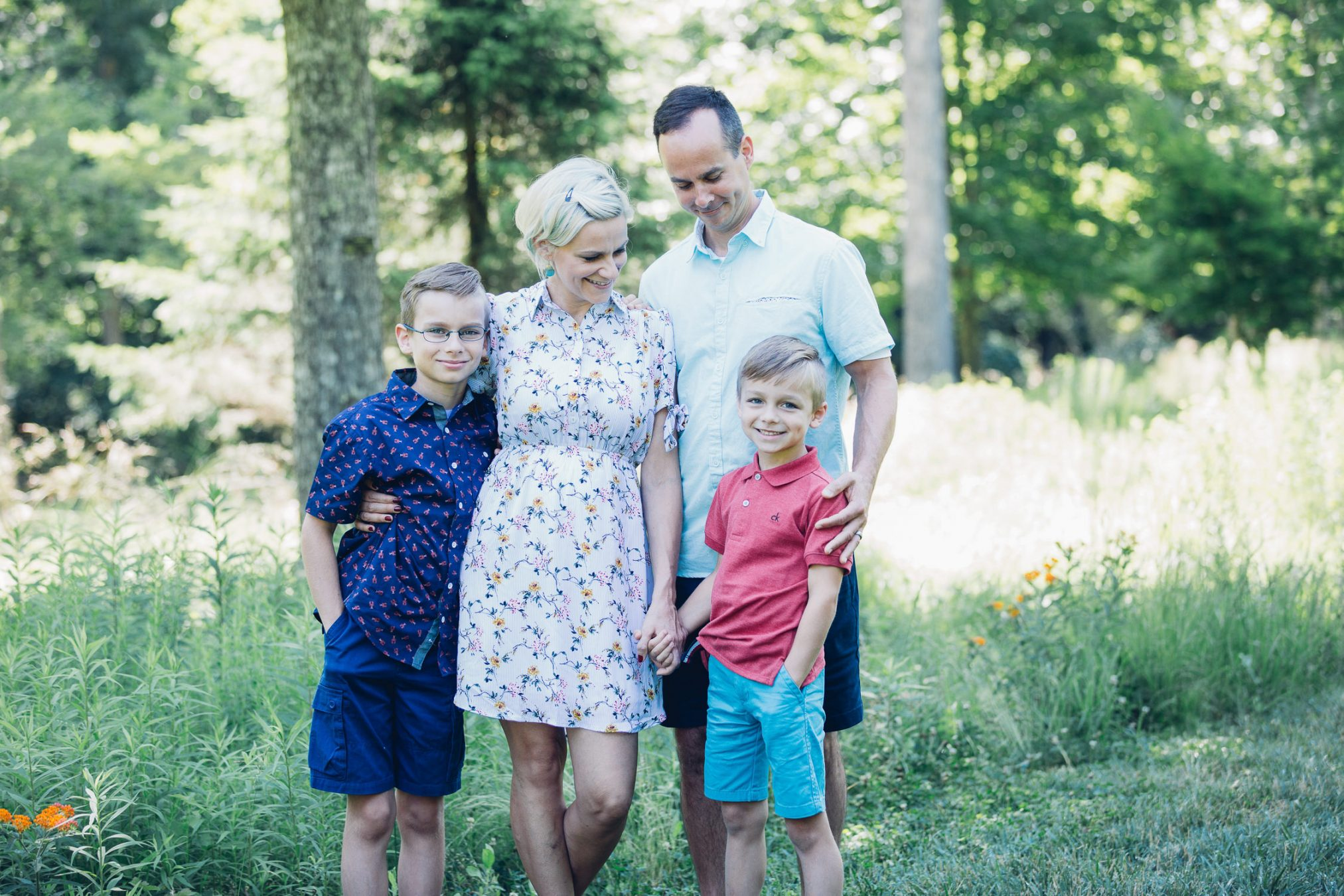 Asheville Arboretum Family Photography Session