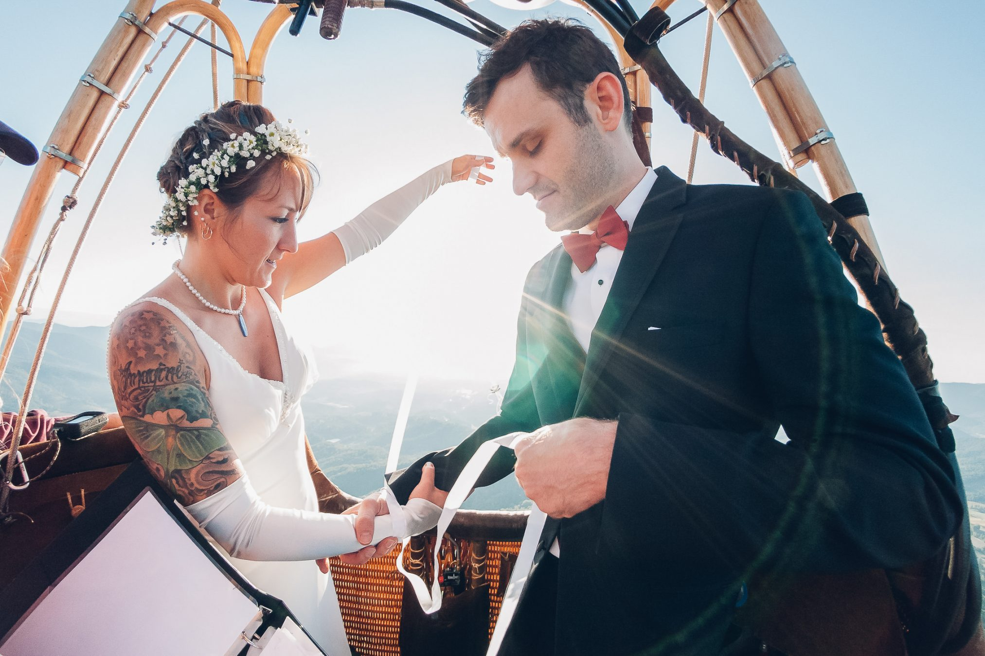 Asheville Hot Air Balloon Wedding Photography
